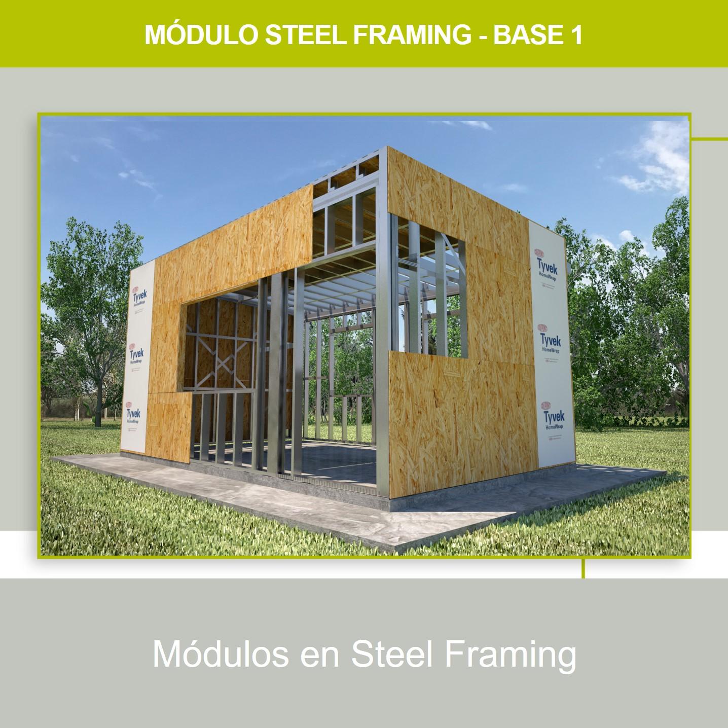 MÓDULOS EN STEEL FRAMING: [Módulo Base 1].