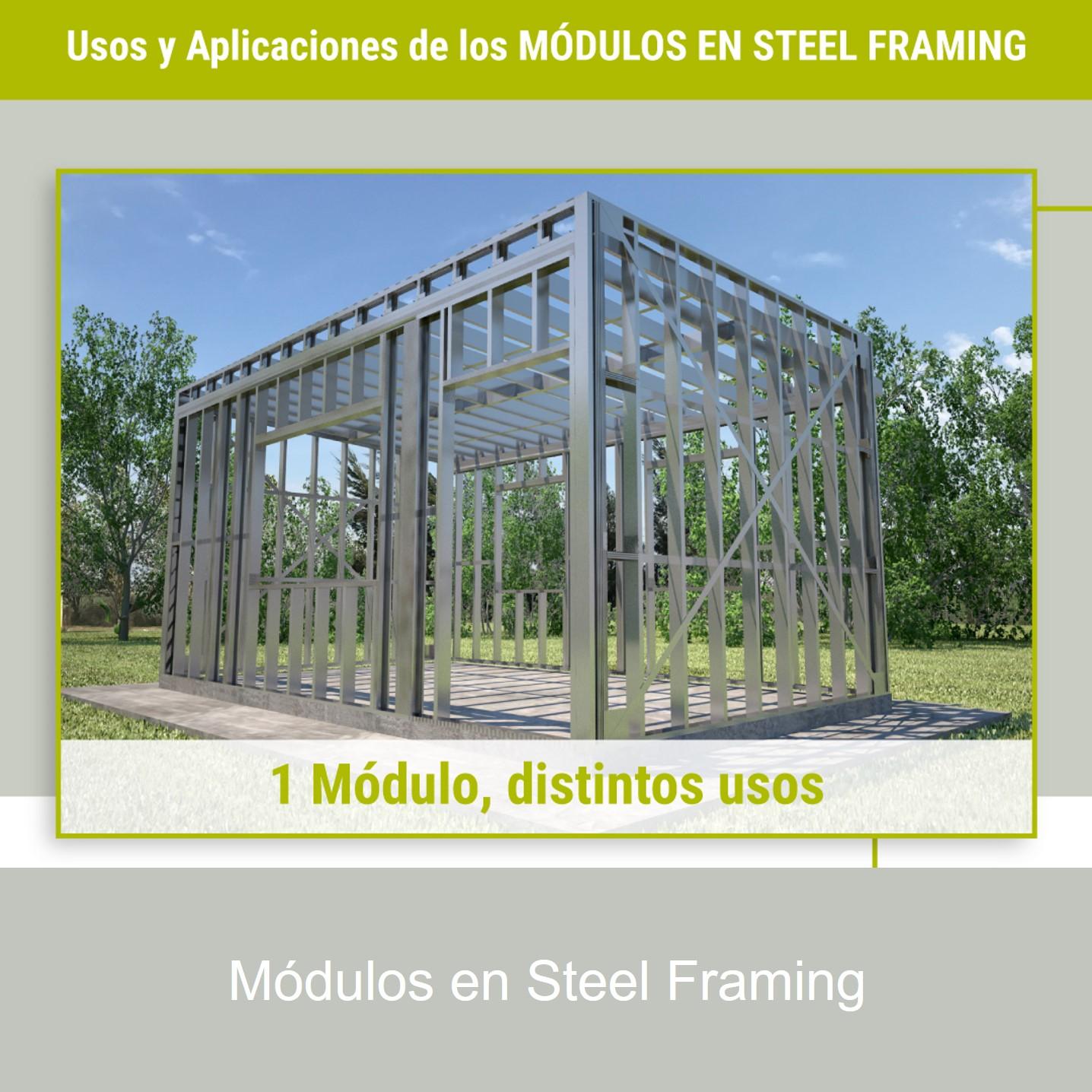 MÓDULOS EN STEEL FRAMING: Un módulo, distintas
