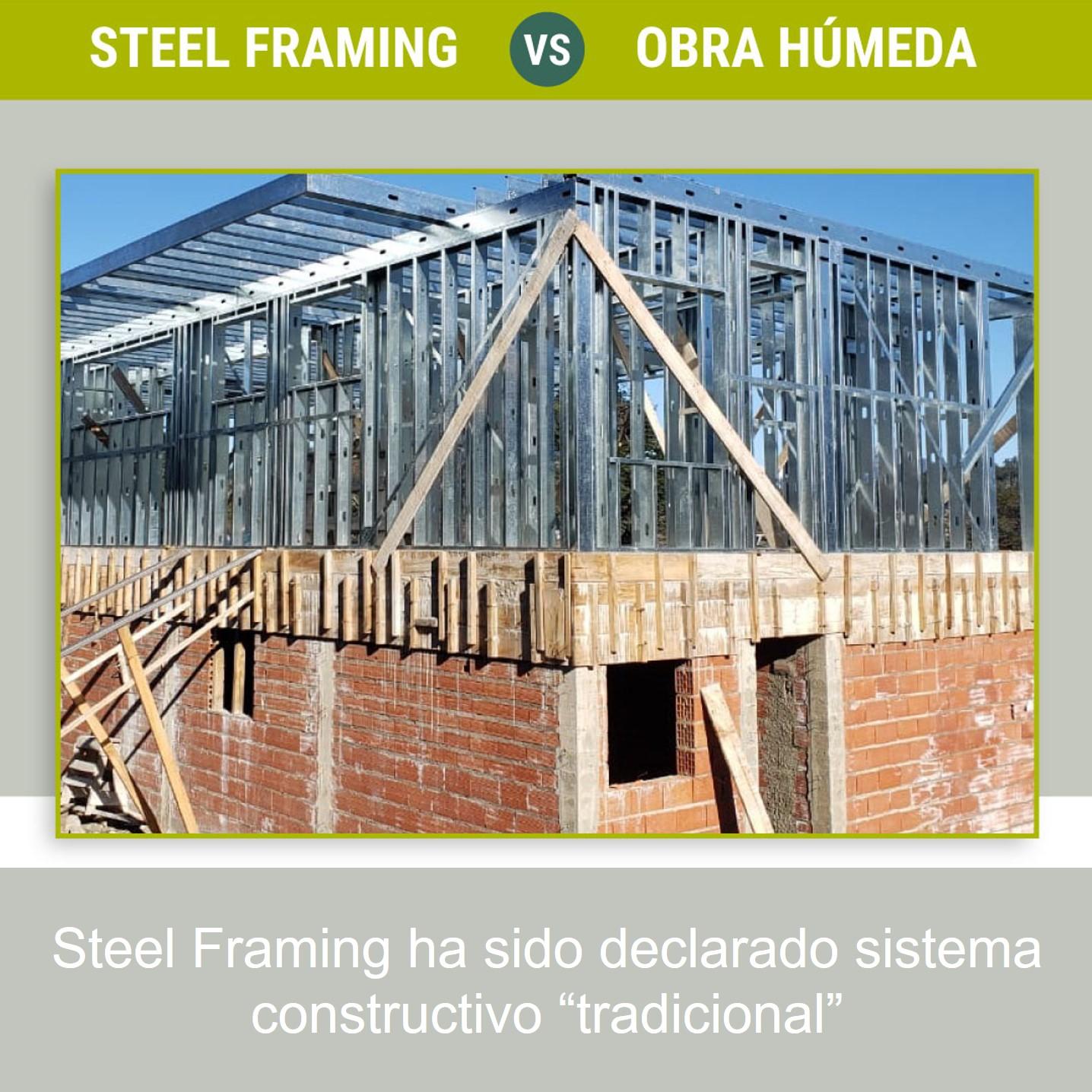 STEEL FRAMING vs construcción húmeda.